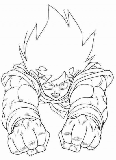 dragon ball z goku kamehameha coloring pages coloring pages