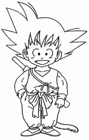 free coloring pages of dragon ball goku vs