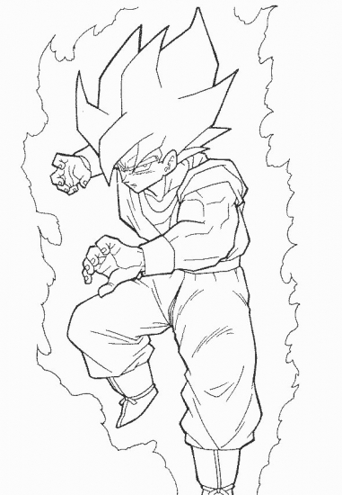 Goku ssj2 coloring pages coloring pages for Dragon ball z goku coloring pages