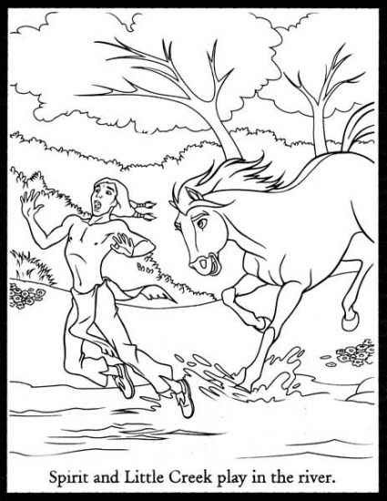 Spirit coloring pages for kids