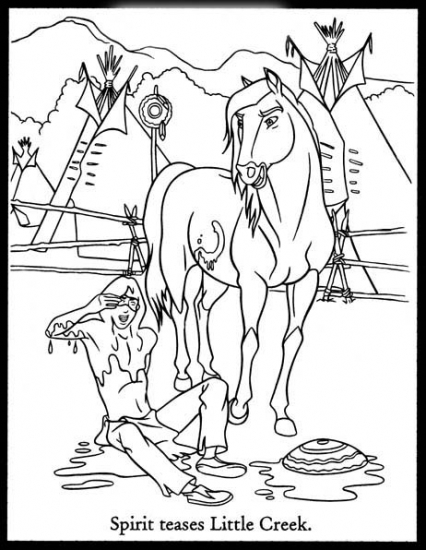 Spirit Stallion Of The Cimarron Coloring Pages Rain