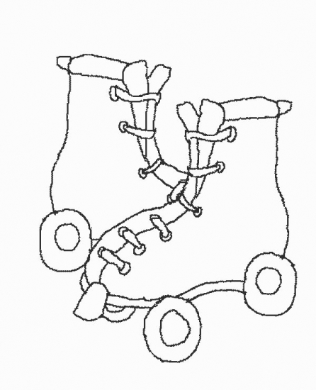 Roller Skating Coloring Pages Girl on Roller Skates Coloring