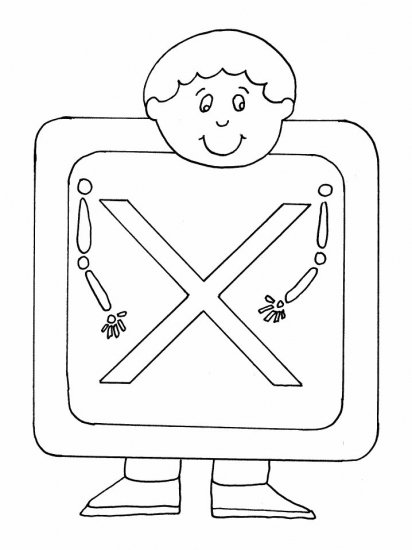 x is for x ray coloring pages - photo #41