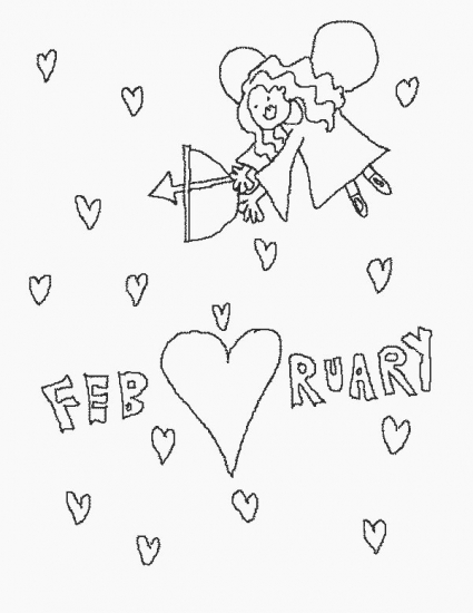 february colouring pages page 3