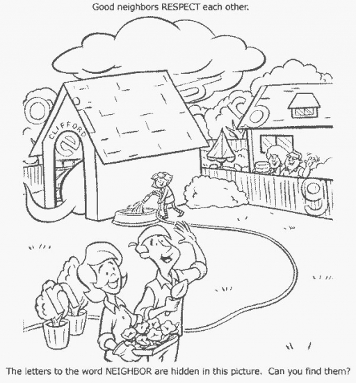coloring pages showing respect | Clifford - respect - Coloring Pages
