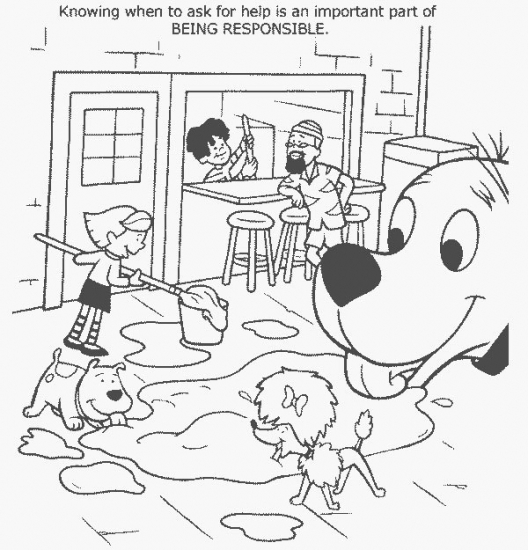 responsibility coloring pages - photo#5