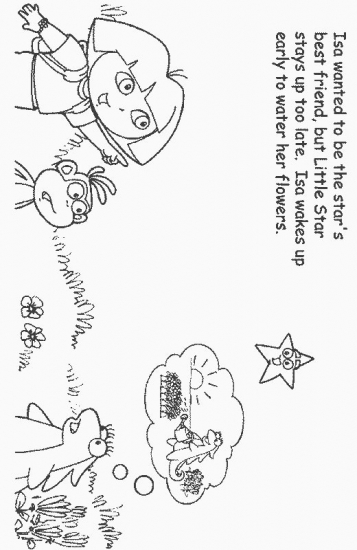 dora stars coloring pages-#29