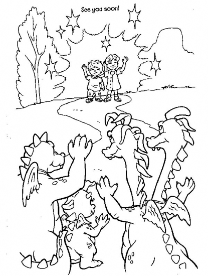 dragontails coloring pages - photo#15
