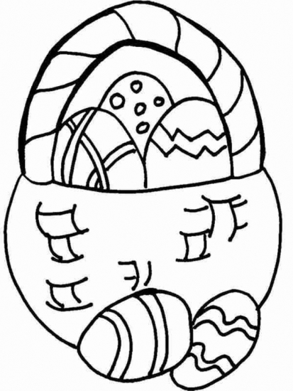 Easter - easterbasket - Coloring Pages