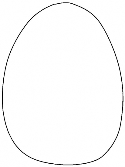 Easter Egg Coloring Pages - plain Easter Egg title=