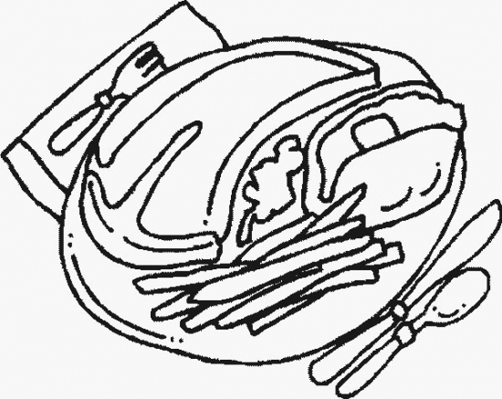 food steak coloring pages