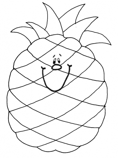 Free From Spongebob Pineapple Coloring Pages