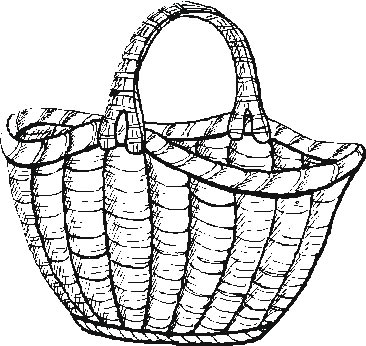 Garden big basket coloring pages for Basket coloring pages