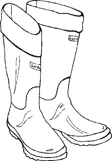 garden  boots  coloring pages