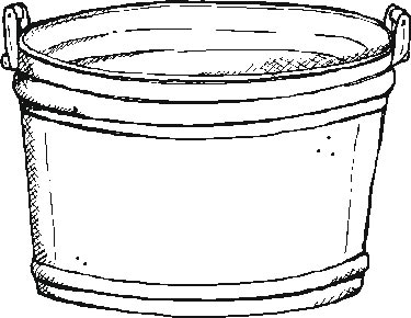 bucket of water Colouring Pages