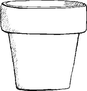 Clean image intended for printable flower pot