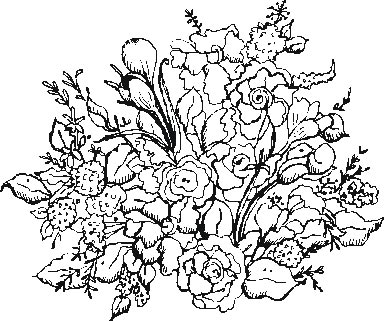 Garden flowers 1 coloring pages for Flower garden coloring page