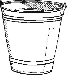 garden bucket colouring pages