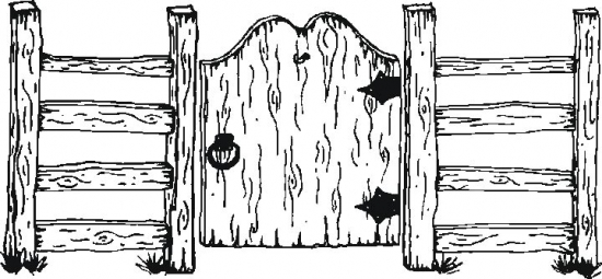 Garden gate free coloring pages