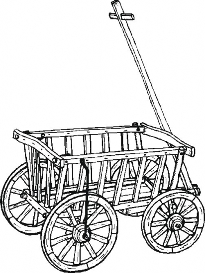 Garden wagon coloring pages for Wagon coloring pages