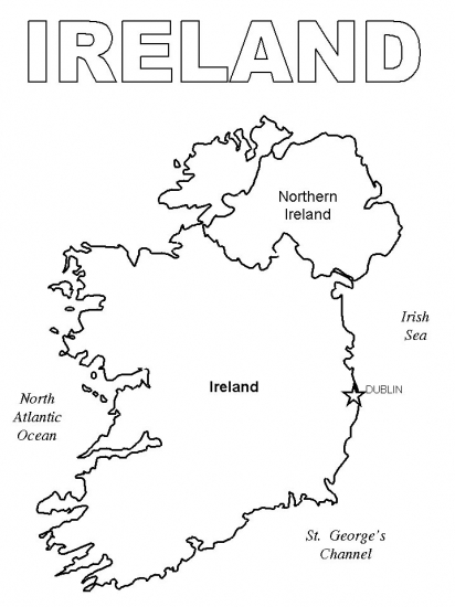 Colouring Pages Ireland : Pin irish coloring pages image search results on