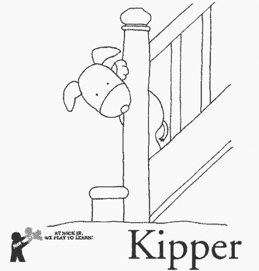 Free coloring pages of kipper for Kipper the dog coloring pages