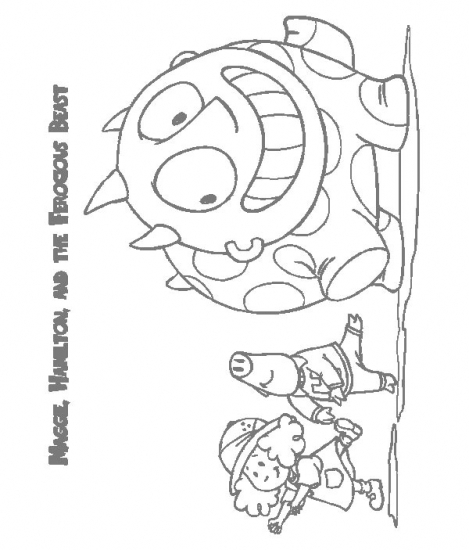 Maggie And The Ferocious Beast Coloring Pages - Kidsuki