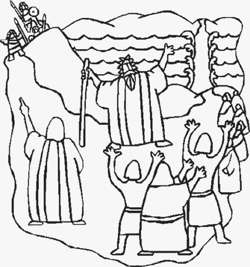 moses red sea coloring pages - photo#20