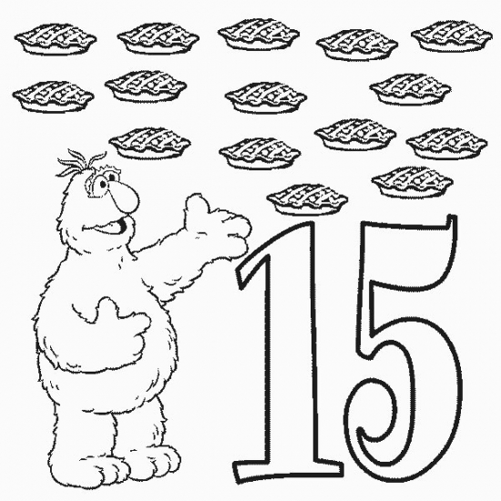 Free coloring pages of color by number 15
