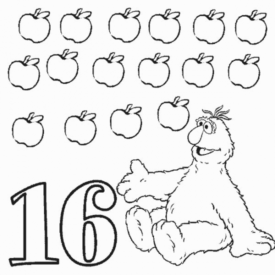 Number 18 Coloring Worksheets likewise Number 17 Coloring Pages ...