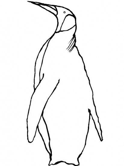 p is for penguin coloring pages - photo #43