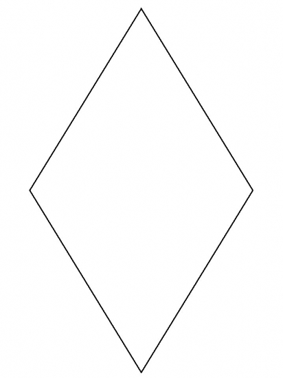 Pin preschool diamond shape pic on pinterest for Diamond coloring page
