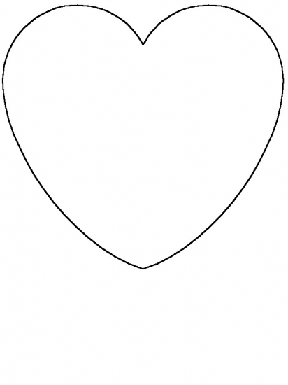 heart shape coloring pages - photo#13