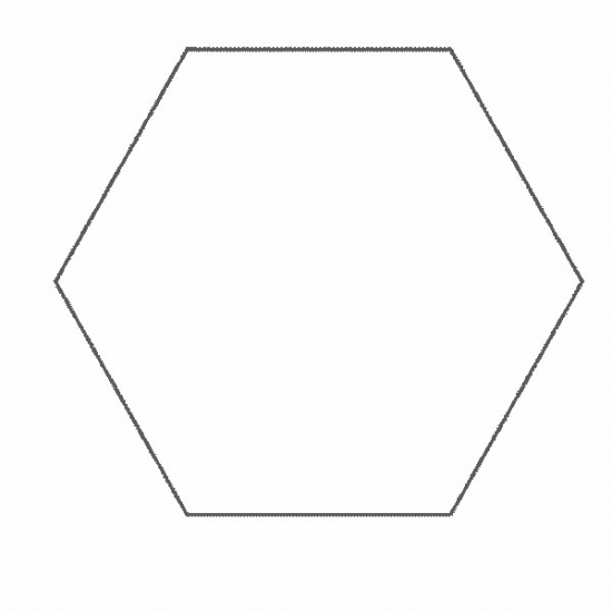 Free coloring pages of hexagon