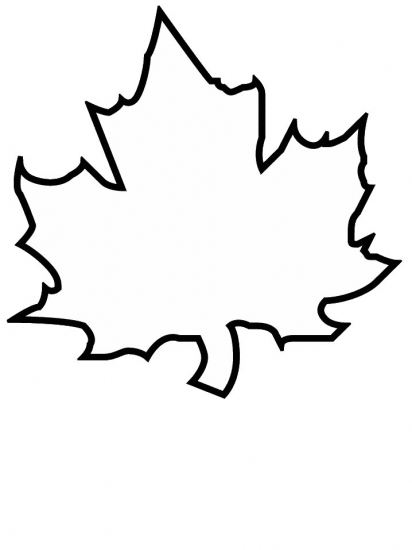 Easy leaf coloring pages