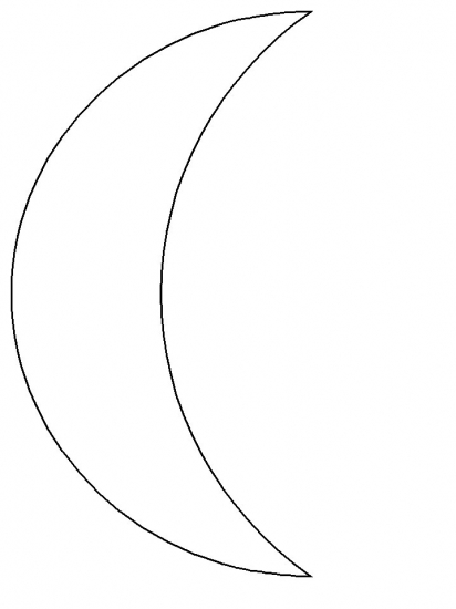 Simple shapes moon coloring pages for Full moon coloring pages