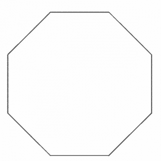 Octagon Shape Free Colouring Pages Octagon Coloring Page
