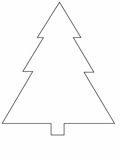 Free coloring pages of shape of christmas tree