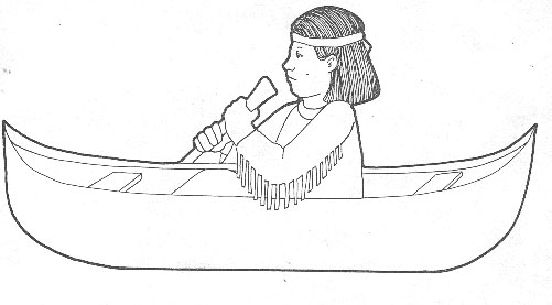 canoe coloring pages | Easy Of Canoes Coloring Pages