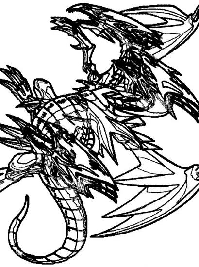 Coloring Pages - Yu-Gi-Ohlue eyes ultimate dragon
