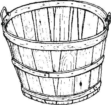 Garden Bushel Coloring Pages Basket Apple